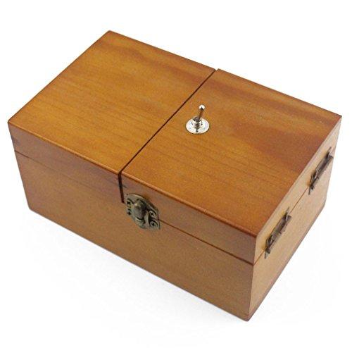 Useless Machine Box, Aideal Massivholz nutzlose Box mit Überraschung Büro Lustige Spielzeug Geburtstag Weihnachten Geschenke für Adult und Kinder (Braun, Kein Logo) (überraschung-box)