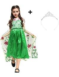 Katara 1842-005 - 1842 Vestito, Colore Frozen Party Fever #1 + Corona, 6-7 anni
