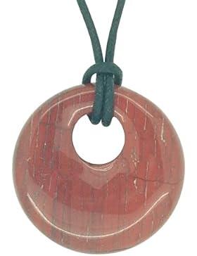 Glücksbringer Sternzeichen Waage Geburtsstein Halskette Edelstein Roter Jaspis