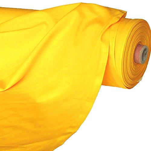 Qualität Baumwolle Stoff (TOLKO Baumwollstoff Meterware - Oeko-TEX® Baumwoll-Qualität, Leichter Klassiker zum Nähen und Dekorieren (Gelb))