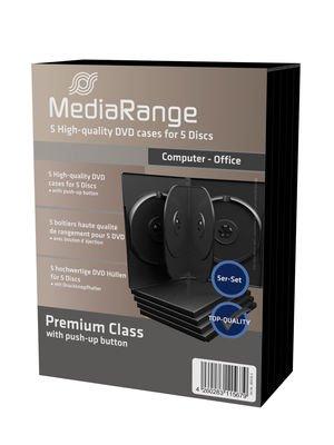 5er Pack Ersatz-taschen (MediaRange DVD-Leerhülle für 5 Discs, 22mm, schwarz, 5er Pack)