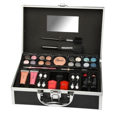 412DlUkiO6L - Urban Beauty 33 Piece Black Vanity Make up / Cosmetic Case