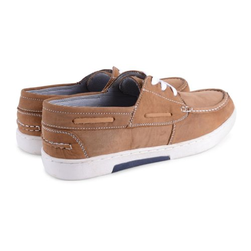 Footwear Sensation , Herren Sneaker Tan Boat Shoes