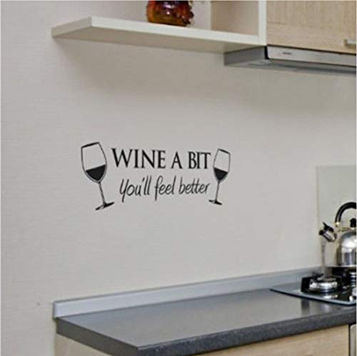 Wandkunst Zitat Wandaufkleber Küche abnehmbare dekorative Wandtattoo ()