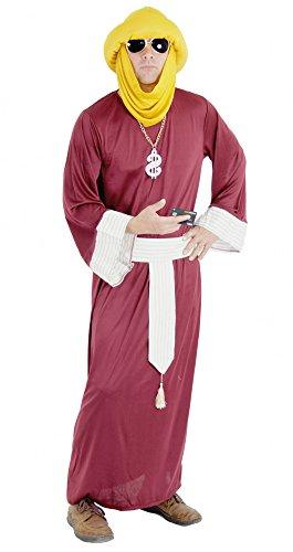 um Ölscheich Millionär Kostüm für Herren | Größe M, L, XL, XXL, XXXL | Herrenkostüm Scheich Araber Ägypter Römer Marokkaner, Größe:L (ägypter Herren Kostüm)