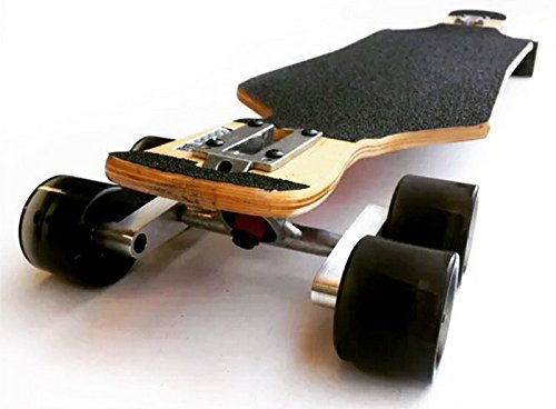 CNC Silber Tandem Achse Rad Kit Set für Skateboard Cruiser Longboard Penny Truck