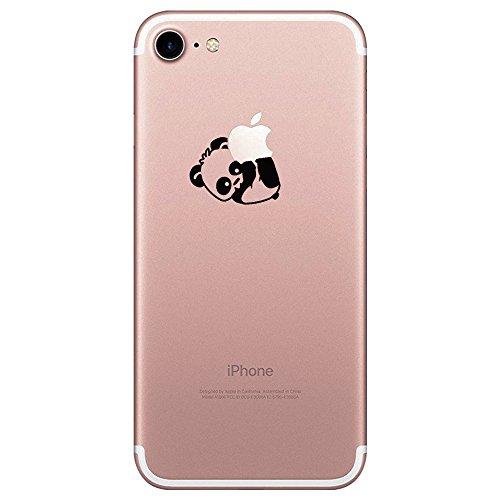 iPhone 7 Hülle, transparentes TPU Case Silikon der Tiere Backcover Handyhülle kreatives Design Panda Muster bedecken zurück für Apple iPhone 7 Case Cover (Bär gefangen)