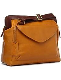 VISSTOSSO Genuine Leather Sling/Messenger Bag/leather Bag/Purse/Shoulder Bag For Female/Ladies/Womens - (Mustard)
