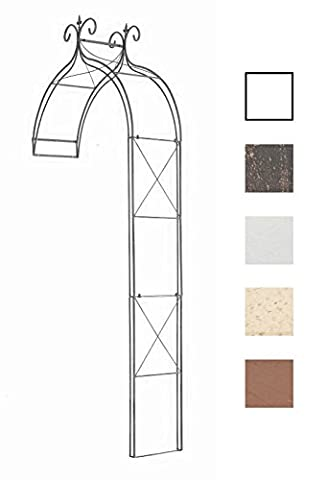 CLP Rose Arch FILIPPO, half-round, for wall-mounting, made from stable iron, choose from up to 5 colours bronze