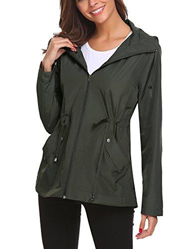 Regenjacke Damen Windbreaker Regenmantel Frauen Kapuzenjacke Wasserfeste Outdoor Jacke für Frauen