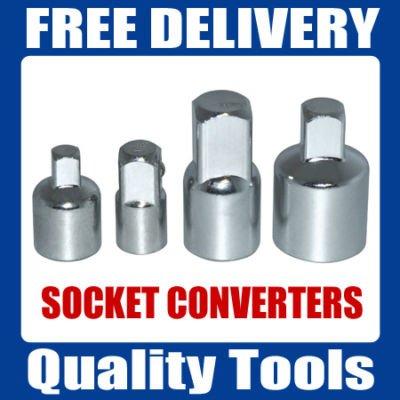 4pc Douille Converter réducteurs Adaptateurs | 1/5,1cm 3/20,3cm 1/10,2cm.