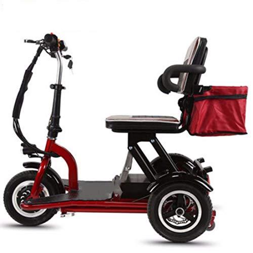 Quino Triciclo eléctrico Scooter para Adultos Plegable, Silla de Ruedas eléctrica Tres...