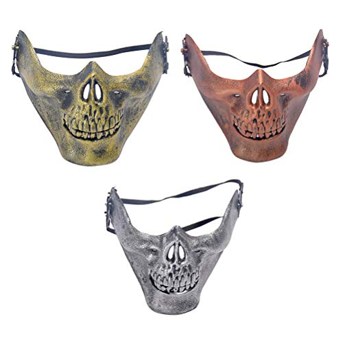 Face Skeleton Schädel Maske Masquerade Scary Cosplay Partei, Maskerade, Halloween, Cs, Jagd Spiel 3 Pcs ()