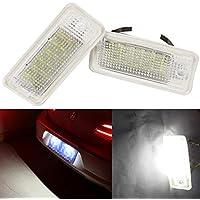 Luces de la Placa de matrícula de la Licencia A-U-D-I 18-SMD LED Error Libre