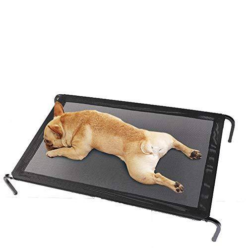 SPTHY Tragbares Klappbares Campingbett, Feuchtigkeitsbeständiges Und Atmungsaktives Herausnehmbares Und Waschbares Hundeaußenbett Für Mittelgroße Und Kleine Hunde,M