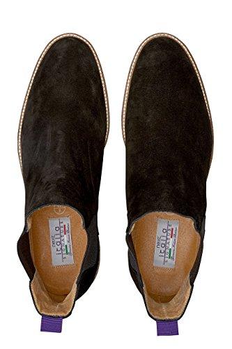 next Homme Boots Chelsea en daim Signature Noir