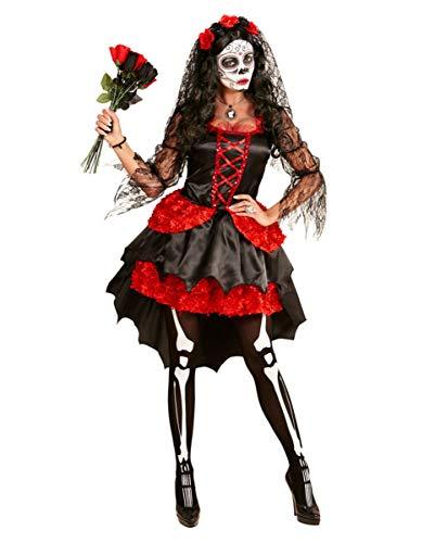 Horror-Shop Sugar Skull Day of The Dead Frauen-Kostümkleid für Halloween L (Sugar Braut Skull Kostüm)