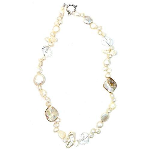 Collana Cristallo 45cm Aurora Borealis Mop Realizzato con perle e cristalli di quarzo da Joe Cool