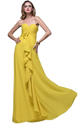 Sunvary Empire girovita arricciato Sweetheart Chiffon Gowns Prom Our Special Bridesmaid Daffodil