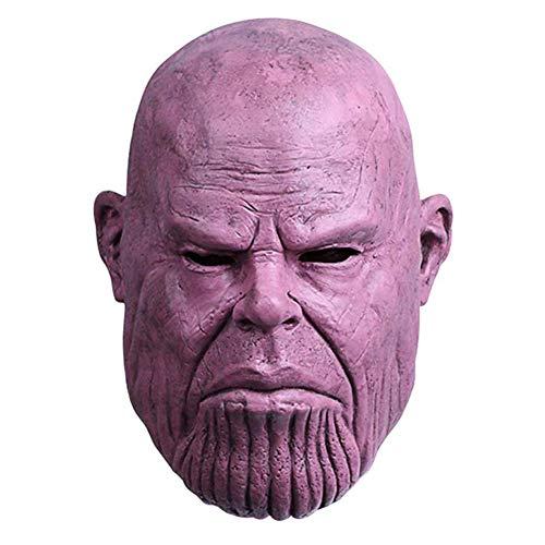 NUWIND - Máscara Látex de Thanos Vengadores Infinito superhéroes de la Guerra Máscaras de Cabeza Completa Fiesta de Disfraces de Halloween Adulto