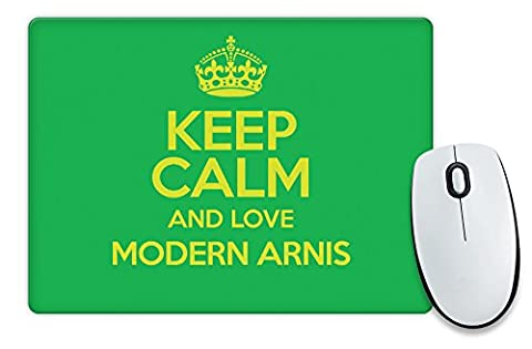 GREEN Keep Calm and Love Modern Arnis Mouse Mat COLOUR 1289