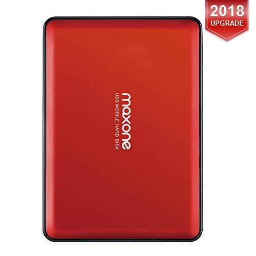 Maxone 160GB tragbare externe Festplatte USB 3.0 für Laptop / Desktop / Wii U / Macbook / Chromebook (Red)