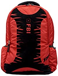 FBI RED UNISEX SCHOOL BAG WITH UNIQUE VELVET PRINT 118