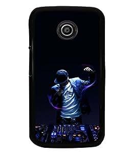 printtech Disco DJ Music Back Case Cover for Motorola Moto E2::Motorola Moto E (2nd Gen)