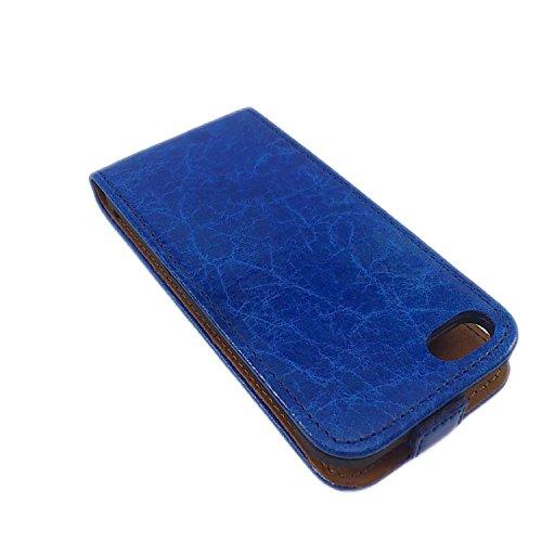 handy-point Echtleder Premium handgemacht Flip Case Klapptasche Ledertasche Lederhülle Klapphülle Hülle Tasche Etui für iPhone 6 6S (4,7 Zoll) Grün Hülle für iPhone 6 - Blau