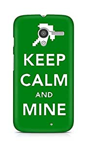 Amez designer printed 3d premium high quality back case cover for Motorola Moto X (Keep calm and Mine Minecraft)