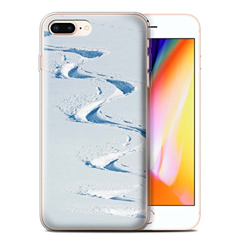 Stuff4 Gel TPU Hülle / Case für Apple iPhone 8 Plus / Pulver Tag Muster / Skifahren/Snowboard Kollektion Pulver Tag