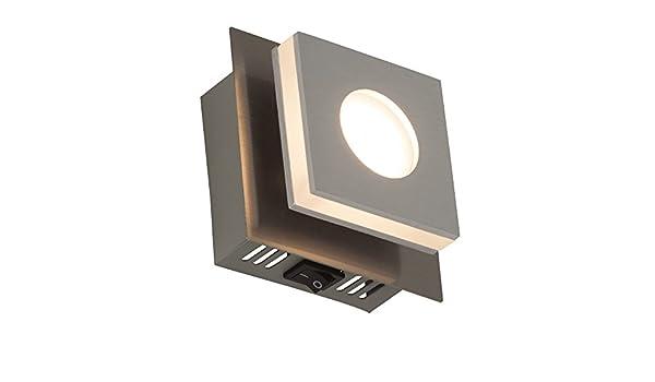 Moderna applique da parete a led con interruttore w led