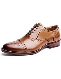 Desai Zapatos de charol piel con cordones Modelo Oxford para hombre/caballero-Traje/Fiesta/Boda