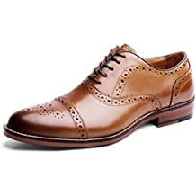 Desai Zapato Piel Brogue con Cordones Oxford para Hombre