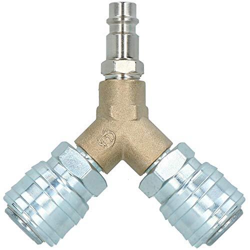 Y-Stück. 3-polig Euro Schnellverschluss Armaturen für Kompressor Luftschlauch