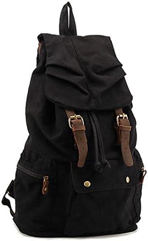 COOLER® Vintage Canvas Sacs Sacs Sacs à dos loisir multifonctions sac de ran ée camping voyage sacs à dos scolaire (noire) | Outlet Store Online  14ea3a