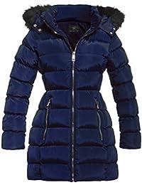 SS7 femmes rembourré fausse fourrure capuche hiver parka manteau, Tailles 8  pour 16 64dc6db06fa9