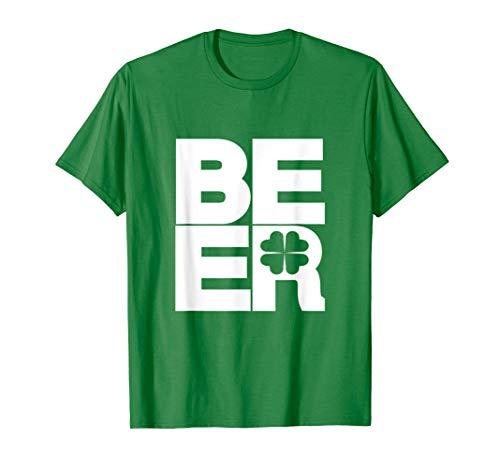 St Patricks Day Shirt | Green BEER Shamrock ()