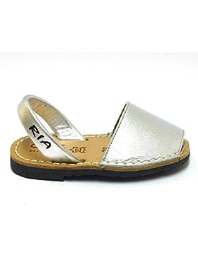 Ria Zapatos Niña Menorquinas Avarcas 2002 Plata