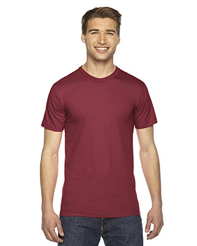 American Apparel Fine Jersey Short Sleeve T-Shirt Cranberry