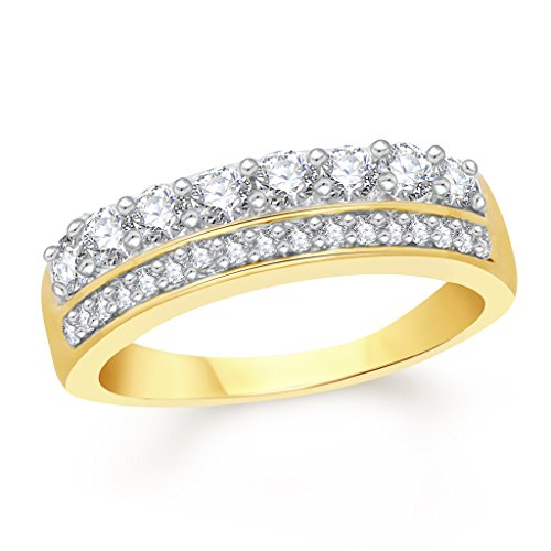 VK-Jewels-Two-Lines-Band-Gold-and-Rhodium-Plated-Alloy-Ring-for-Women-Girls-FR2357G-VKFR2357G