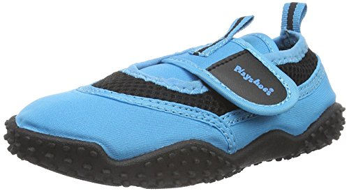 Playshoes Badeschuhe Neonfarben mit höchstem UV-Schutz nach Standard 801 174796, Unisex-Kinder Aqua Schuhe, Blau (blau 7), 26/27 EU