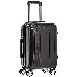 AmazonBasics - Oxford - Valise rigide à roulettes pivotantes - 55 cm, Noir