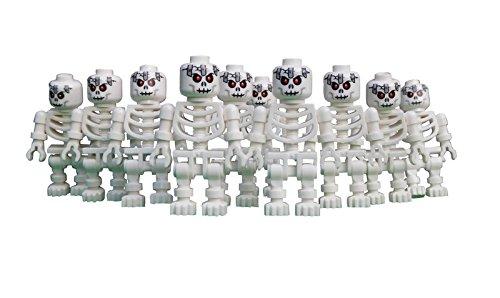 LEGO 10 Skelette mit seltenem Kopf / 10 x LEGO Skelett