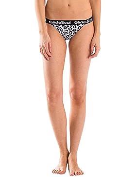 GlideSoul Signature Collection Multi Strap, Pezzo Inferiore di Bikini Donna, Leopard, M