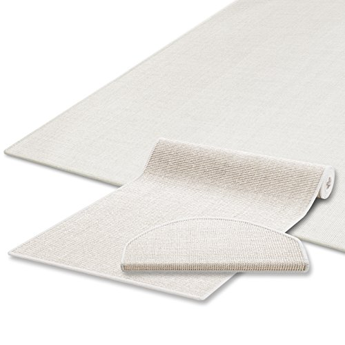 Sisal Teppich / Läufer in zahlreichen Größen | Naturfaser | Qualitätsprodukt aus Deutschland | kombinierbar mit Stufenmatten | Ivory / Creme (80x300 cm)
