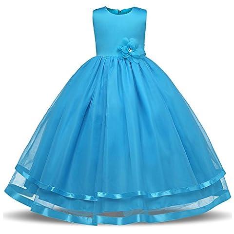 Mädchen Kleider Hochzeit Chiffon Brautjungfer Festliches Festzug Bankett Party Prinzessin Märchen Dress