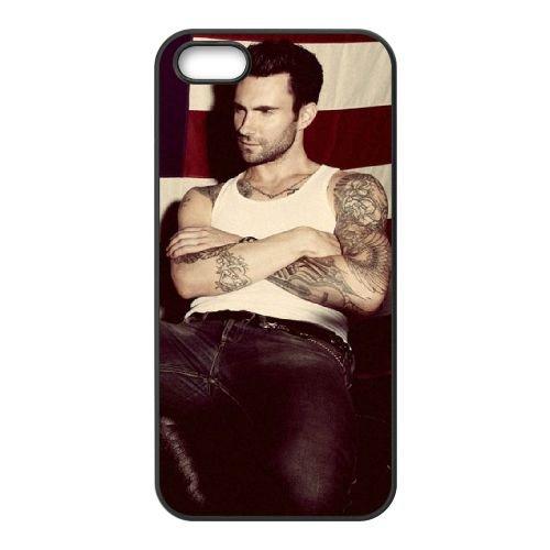 Adam Levine coque iPhone 4 4S cellulaire cas coque de téléphone cas téléphone cellulaire noir couvercle EEEXLKNBC22717