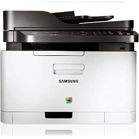 Samsung CLX-3305FW - Impresora multifunción láser a color (4-en-1, WiFi, LAN, USB) color blanco