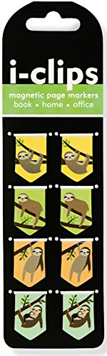 Preisvergleich Produktbild Sloths I-clips Magnetic Page Markers: Set of 8 Magnetic Bookmarks